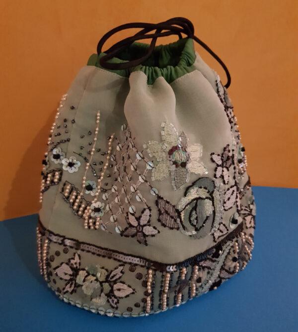 sac seau en soie
