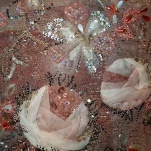 Roses Tulle et mousseline de soie
