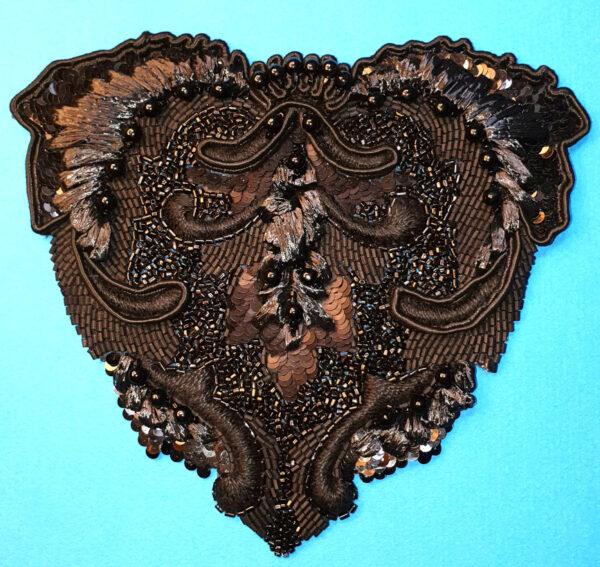 Cœur Organza de soie noir