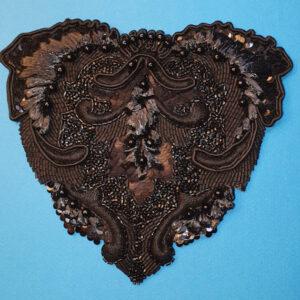Cœur noir Organza de soie