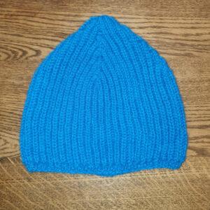 bonnet alpaga bleu