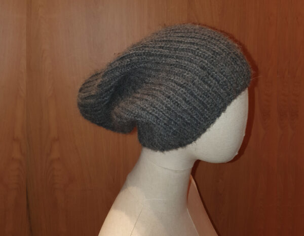 bonnet gris foncé alpaga