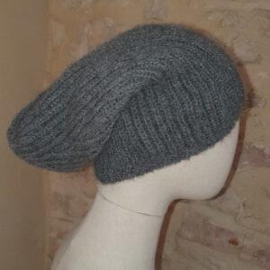 bonnet gris en alpaga