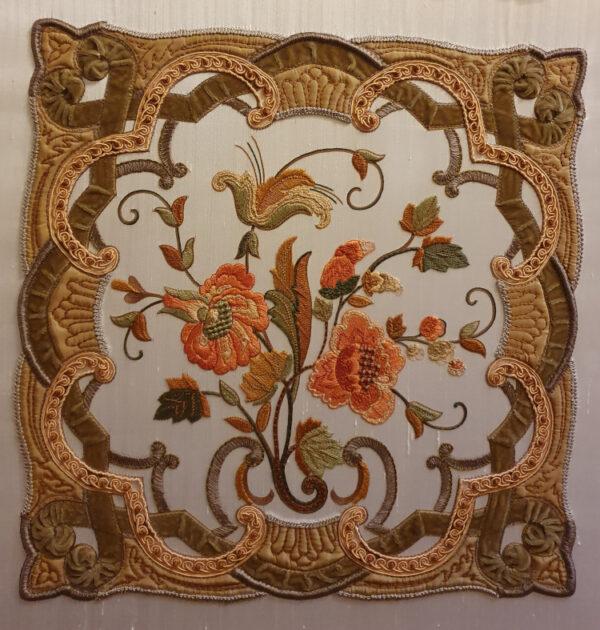 Fontainebleau en automne soie et coton
