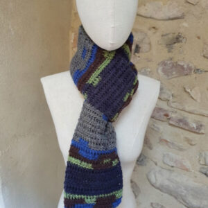 écharpe avoriaz laine bleu
