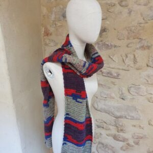 Echarpe Douala en laine fait main